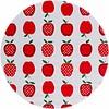 MixMamas Rond tafelzeil 120cm appels stippels rood