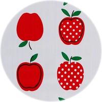 Mexicaans Tafelzeil Rond - Ø 120 cm - Appels Stippels - Rood