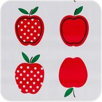 Tafelzeil Rond - Ø 120 cm - Appels Stippels - Rood