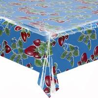 Tafelzeil Aardbei - 120 x 200 cm - Blauw