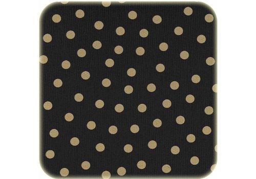 MixMamas Tafelzeil 2m zwartgoud stip