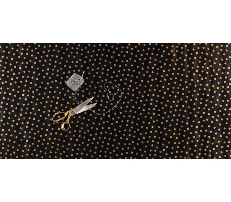 Mexicaans Tafelzeil Stippen - 120 x 200 cm - Zwart/Goud