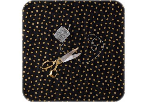 MixMamas Tafelzeil 3m x 1,2m zwart met gouden stippen