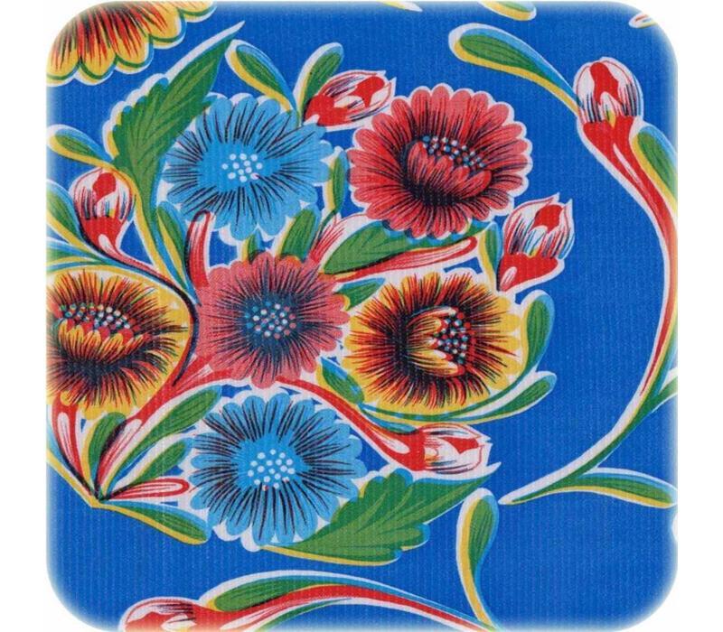 Tafelzeil Bloom / Floral - 120 x 200 cm - Blauw