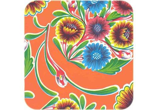 MixMamas Tafelzeil 2m floral oranje