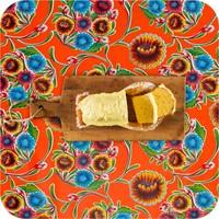 Mexicaans Tafelzeil Gebloemd Floral - 120 x 200 cm - Oranje