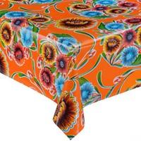 Mexicaans tafelzeil 2m bij 1.20m, Floral oranje