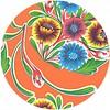 MixMamas Tafelzeil Rond - Ø 120 cm - Bloom / Floral - Oranje