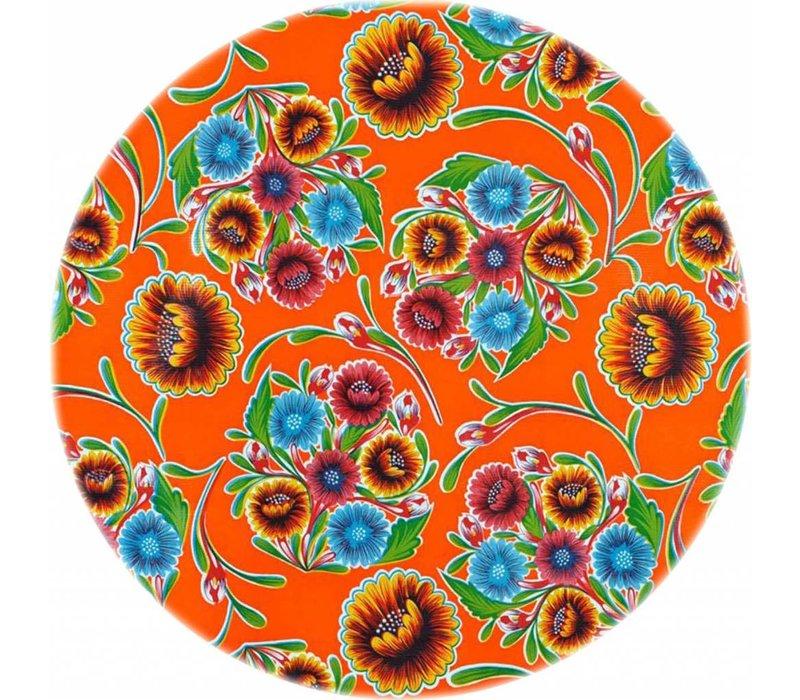 Tafelzeil Rond - Ø 120 cm - Bloom / Floral - Oranje
