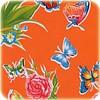 MixMamas Mexicaans Tafelzeil Vlinder - 120 x 300 cm - Oranje