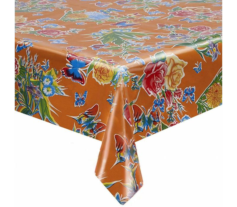 Mexicaans Tafelzeil Vlinder - 120 x 300 cm - Oranje
