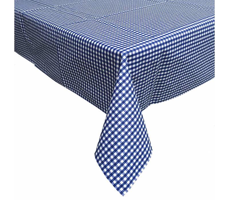 Tafelkleed Gecoat Ruitje - 140 x 200 cm - Donkerblauw