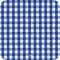 Gecoat tafelkleed Ruitje donkerblauw 200 x 140 cm