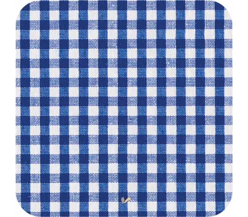 Gecoat tafelkleed Ruitje donkerblauw 2mx 140cm