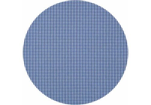 MixMamas Gecoat rond tafelkleed Ruitje d-blauw 140cm
