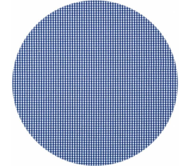 Rond Tafelkleed Gecoat - Ø 140 cm - Ruitje - Donkerblauw