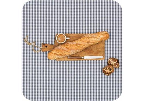 MixMamas Tafelkleed Gecoat Ruitje - 140 x 200 cm - Grijs
