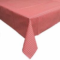 Gecoat tafelkleed Ruitje rood 2mx 140cm