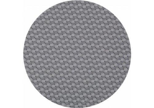 MixMamas Gecoat rond tafelkleed grijs 140cm