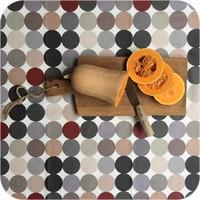 Tafelkleed Gecoat Grote Stip - 140 x 250 cm - Beige/Grijs