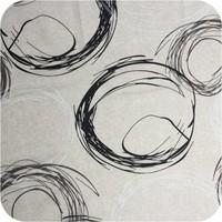 Gecoat tafelkleed Painted Circles beige 2,5m x 1,4m