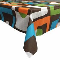 Gecoat tafellinnen Geometrisch retro 2m x 1,4m