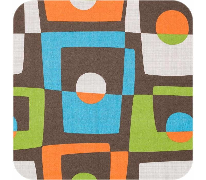Gecoat tafelkleed Geometrisch retro 2m x 1,4m