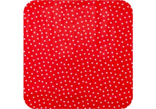 MixMamas Tafelzeil 2,5m rood met witte stippen