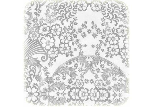 MixMamas Tafelzeil Paraiso / Barok - 120 x 250 cm - Zilver