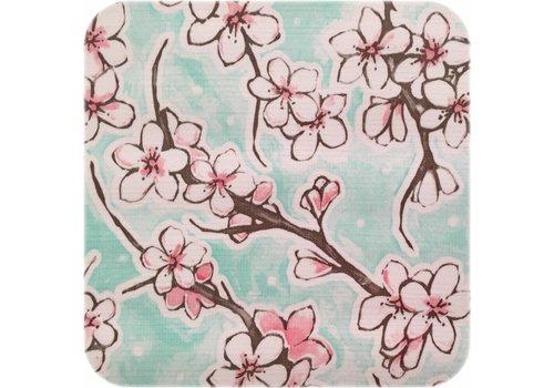 MixMamas Tafelzeil 2,5m Kersenbloesem mintgroen