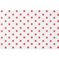 Tafelzeil Grote Stip - Rol - 140 cm x 20 m - Wit/Rood