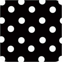 Europees Eco tafelzeil zwartwit grote stip rond 140cm