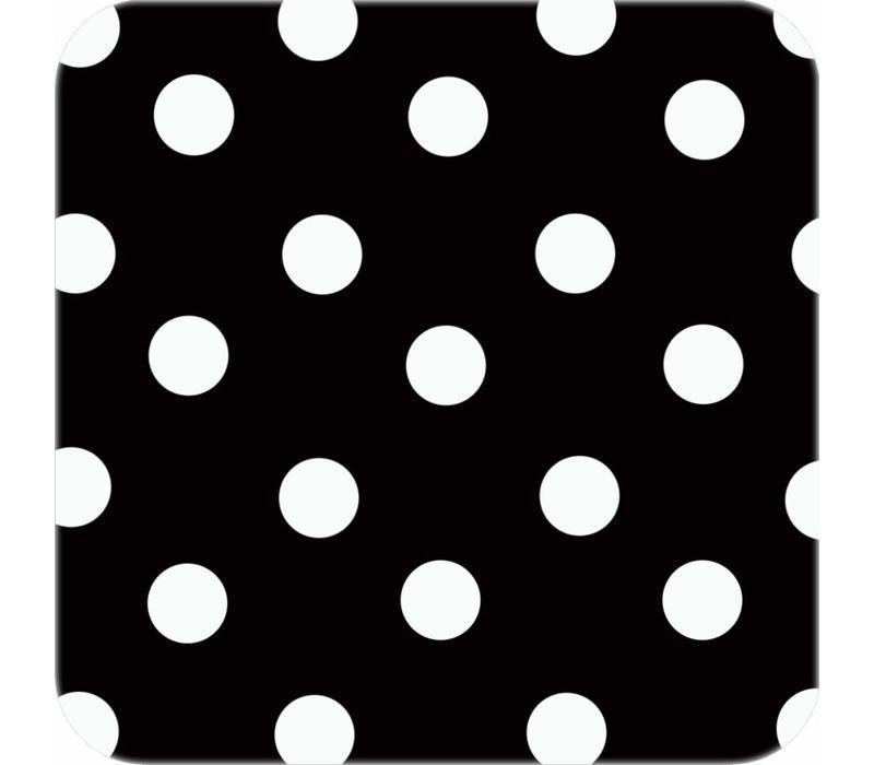 Tafelzeil Rond - Ø 140 cm - Grote Stip - Zwart/Wit