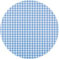 Europees Eco tafelzeil ruitje blauw rond 140cm