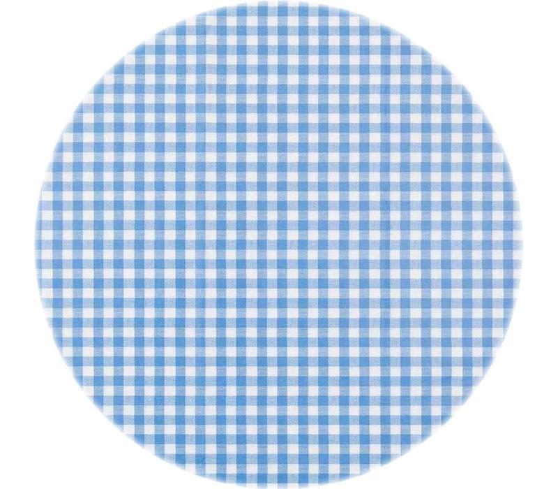 Tafelzeil Rond - Ø 140 cm - Ruitje - Blauw