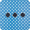 MixMamas Europees Eco tafelzeil blauw-wit grote stip 2M