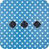 MixMamas Tafelzeil Grote Stip - 140 x 200 cm - Blauw/Wit