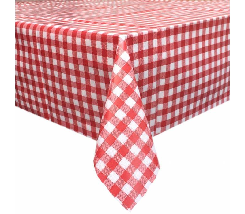 Europees Eco tafelzeil ruitje rood 2M