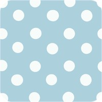 Tafelzeil Grote Stip - 140 x 250 cm - Lichtblauw/Wit
