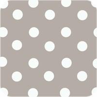 Tafelzeil Grote Stip - 140 x 250 cm - Taupe/Wit
