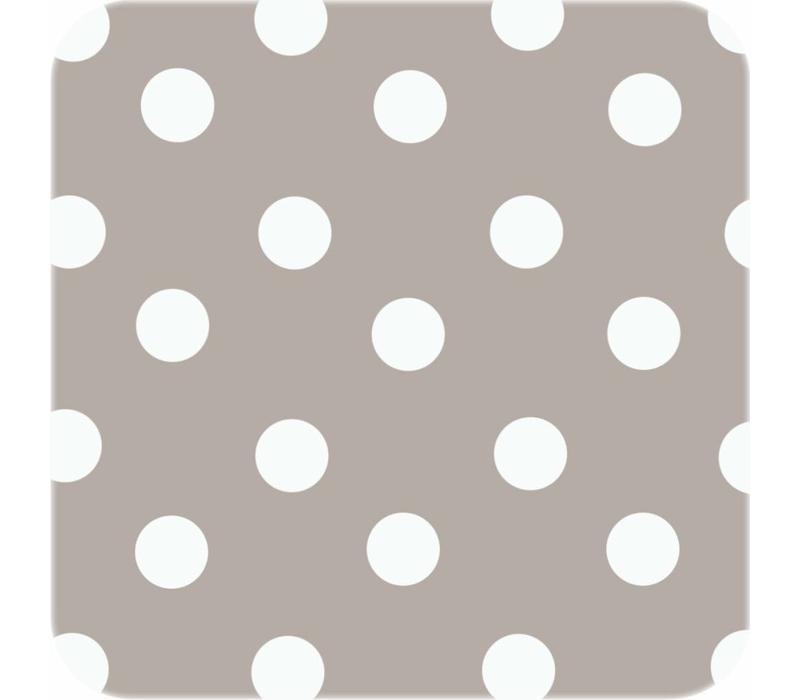 Europees Eco tafelzeil taupe-wit grote stip 2,5M