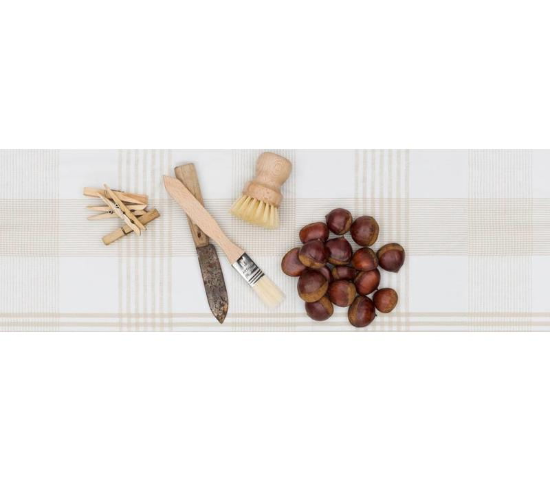 Europees Eco tafelzeil theedoek beige 2,5M
