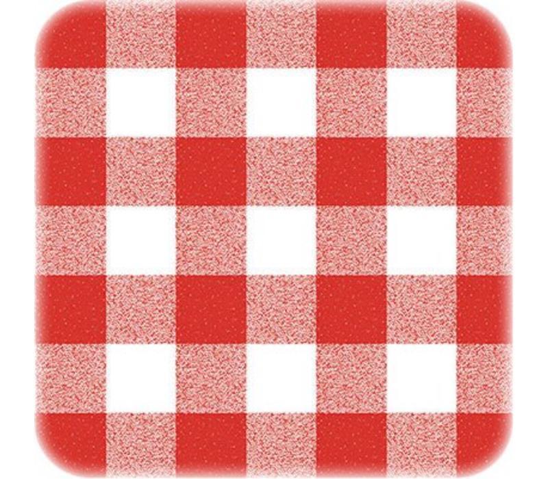 Europees Eco tafelzeil ruit rood 3M