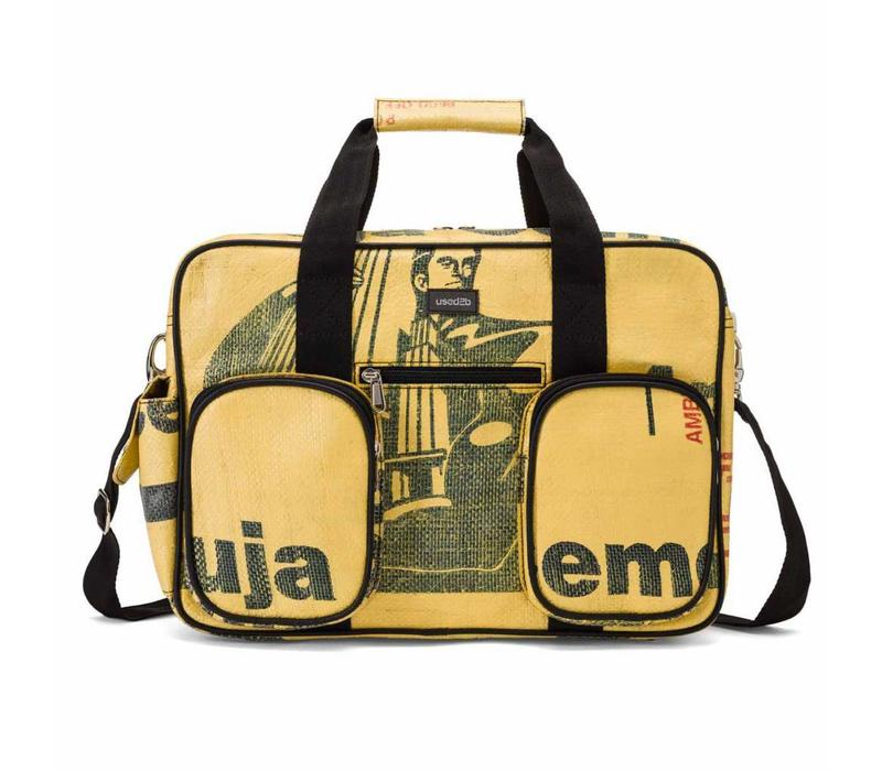 Used2b College bag Ambuja - Schoudertas Upcycled - Cement - 40 x 29 cm - Beige