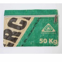 Taka 2 Etui upcycled Shah Cement groen