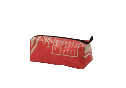 Used2b Used2b Cement Etui - Upcycled- Rood