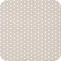 Gecoat tafelkleed Stippen beige-wit 2,5m x 1,4m