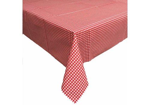 MixMamas Gecoat tafelkleed 2,5m Ruitje rood 140cm