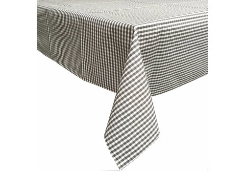MixMamas Gecoat tafelkleed 2,5m Ruitje grijs 140cm