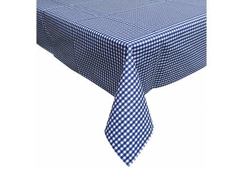 MixMamas Gecoat tafelkleed 2,5m Ruitje donkerblauw 140cm